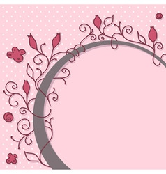cute girly floral frame vector image