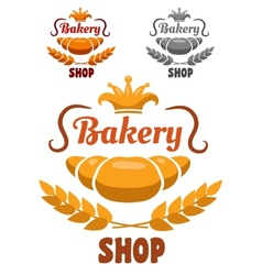 Bakery shop badge or label vector image vector image