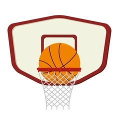 basketball sport emblem icon vector image