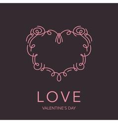 Heart Frame - Love Design for Valentines Day Logo vector image vector image