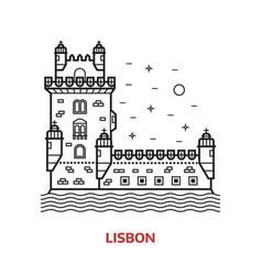 lisbon landmark vector image