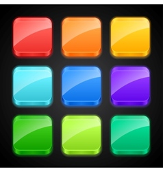 Set of luminous color apps icons vector image vector image