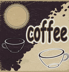 Vintage background with the image of cups vector image