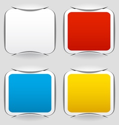 Blank attached square papers vector