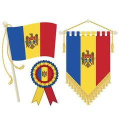 moldova flags vector image vector image