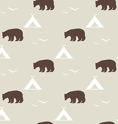 Seamless national pattern with the image of the vector image
