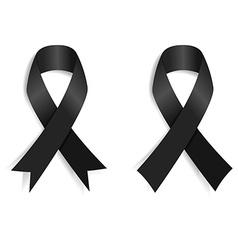 Set of the Black ribbon vector image