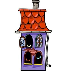 haunted house cartoon vector image vector image