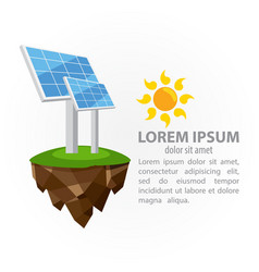 the solar panel green technologies project vector image
