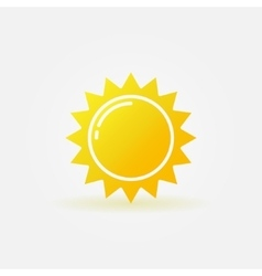 Abstract sun icon vector image