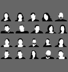 Avatar profile picture icon set vector
