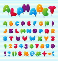 balloon alphabet character set vector image
