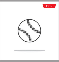 baseballs icon outline baseballs icon vector image