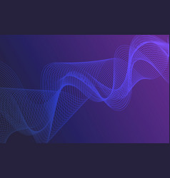 beautiful abstract thin line wave futuristic vector image
