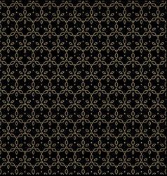 black and gold linear luxury background vector image