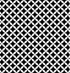 Black and white seamless polygon pattern vector