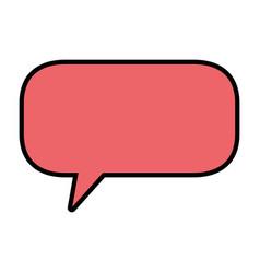 Bubble chat symbol vector