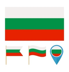 Bulgaria country flag vector image