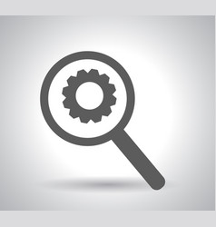 business analysis symbol with magnifying glass vector image