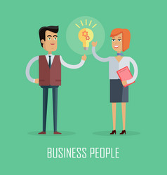 business people concept in flat design vector image
