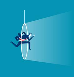 Businessman into loop concept business vector