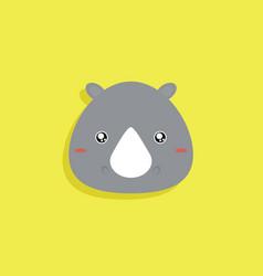 cartoon rhino face vector image