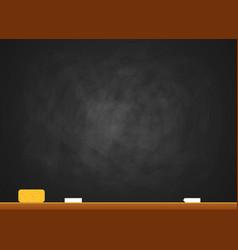 chalk sponge school board - education vector image