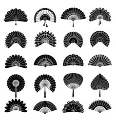 chinese fan beautiful japanese hand paper fan vector image