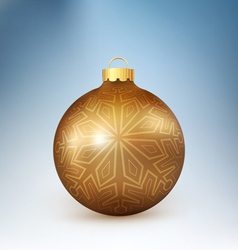 Christmas ball with snowflake vector