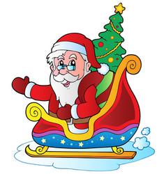 Christmas santa claus 6 vector
