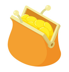 coins wallet icon isometric style vector image
