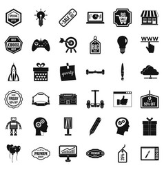 Creative market icons set simple style vector