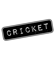 Cricket rubber stamp vector