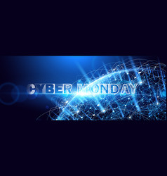 cyber monday online sale event technology vector image