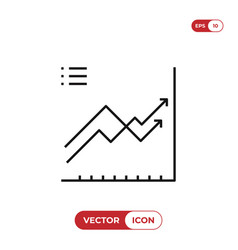 diagram icon vector image