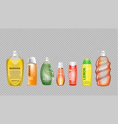 Digital green and yellow shower gel vector