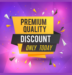 discount poster template sale background vector image