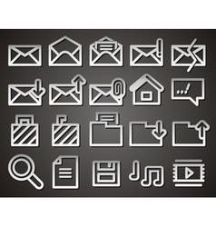 Envelope folder web icons vector