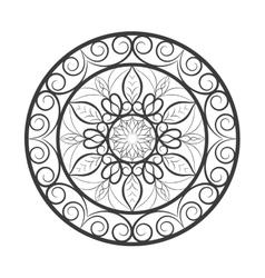 Flower mandala over white vector
