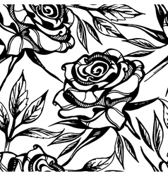 Flower rose seamless 2 vector