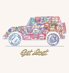 Get lost car vector