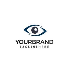 glasses eye logo design concept template vector image