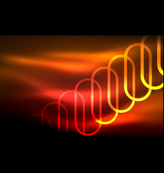 Glowing ellipses dark background waves and swirl vector