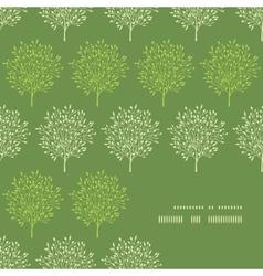 Green trees stripes corner frame pattern vector