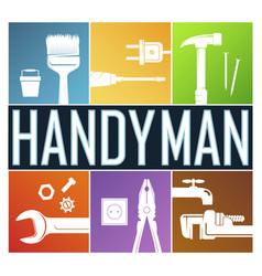 Handyman symbol for home renovation vector