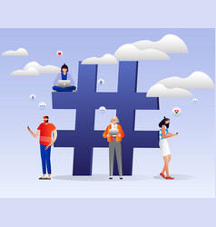 Hashtag and social media concept vector