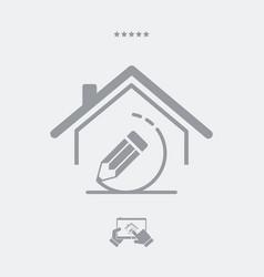 house design - web icon vector image