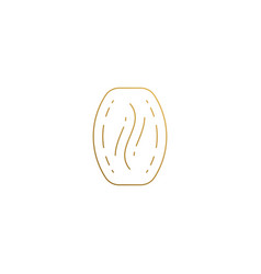 icon coffee bean hand drawn with thin vector image