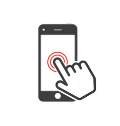icon pointing on touch screen vector image