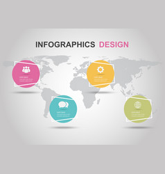 Infographic design template with circle banners vector